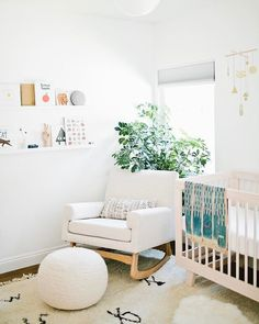 Gender neutral natural baby nursery
