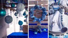 Blue and silver Christmas Decor - www.heartable.co.za