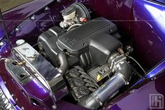 Grant Eberhart's 1955 FJ Holden - 3 by HoskingIndustries, via Flickr White Umbrella, Free Desktop Wallpaper, Leather Interior, Motor Car, Red Leather, Purple Cars, The Incredibles, Classic, Engine