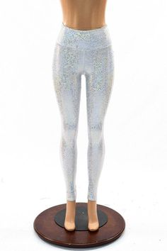 Silver on White Holographic Metallic Shattered by CoquetryClothing