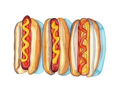 Trois hot dogs by Laura Manfre, via Flickr