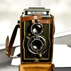 Reflekta TLR Camera Blitz I  with leather by VintageCameraClub, $119.00
