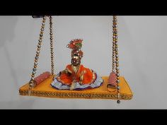 hello friends, welcome to our channel Wow DIY Art & Craft in this Home made swing(jhula)for bal gopal Best out of waste Diy Arts And Crafts, Decor Crafts, Diy Crafts, Paper Flowers Craft, Flower Crafts, Janmashtami Decoration, Bal Gopal, Diy Swing, Krishna Janmashtami