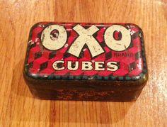 OXOの小さな缶イギリス製(6.5cmx4cmx2cm)30'sのもの。