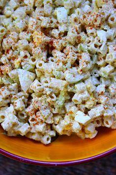 Old Fashioned Macaroni Salad Recipe - RecipeGirl.com.  Terrific recipe for a Memorial Day BBQ.