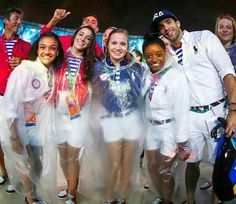 A little rain couldn't stop them! Some of the team USA gymnasts helped officially close out the 2016 Olympic Games.