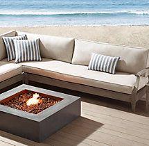 Santa Monica Classic Three-Seat Armless Sofa Cushions
