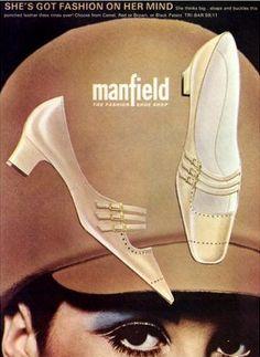 Sixties Manfield shoe advert