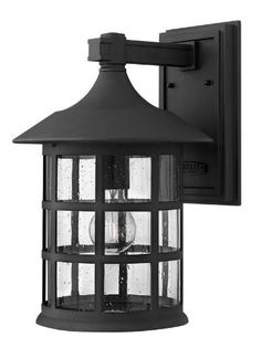 Hinkley 1805BK-LED Freeport - One Light Wall Sconce, Black Finish with Clear Seedy Glass by Hinkley. $309.00. Freeport features a classic New England design in a durable Black finish and cast aluminum construction complemented by clear seedy glass. This timeless, traditional style will complement a variety of exteriors.
