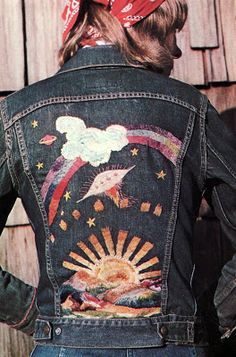For the runaways, ex-Girl Scouts, vintage hunters, hippies, patch collectors and soul searchers Diy Fashion, Fashion Beauty, Vintage Fashion, Hippie Fashion, Vintage Denim, Vintage Style, Style Fashion, Fashion Outfits, Sugarhigh Lovestoned