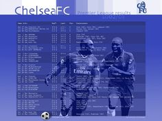 CHELSEA FC Fixtures and Results