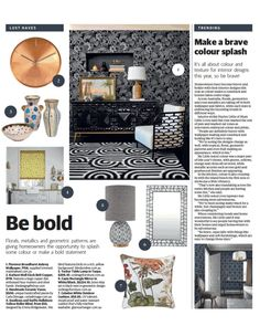 "Commercial Fabric/WallCovering on Instagram: ""Colour crush! Thanks to The Courier Mail for featuring our newly available Florence Broadhurst Aubrey wallpaper (American Edit FB1421) in…"""