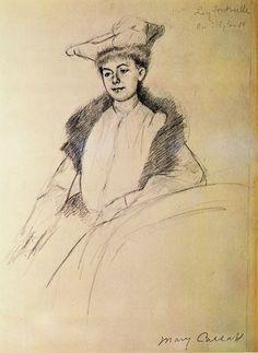 Portrait of Mme. Fontveille,   Mary Cassatt - 1902