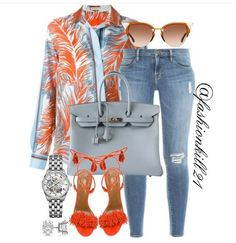 Classy Outfits, Stylish Outfits, Fashion Outfits, Womens Fashion, Casual Chic, Casual Wear, Emilio Pucci, Jean Outfits, Types Of Fashion Styles