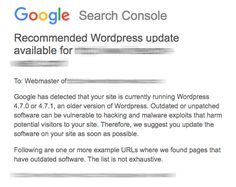 #Wordpress Google Makes WordPress Site Owners Nervous Due to Confusing Security Alerts  These security alerts are related to the recent WordPress 4.7.2 security update, released on January 26, almost two weeks ago. Las Vegas WordPress Developer - http://www.larymdesign.com