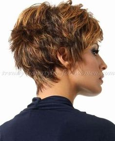 Image result for Short Shag Hairstyles for Women Over 50 Back Veiws