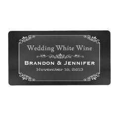 Chalkboard Chic Custom Wedding Mini Wine Labels