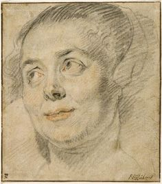Jacobs Jordaens, Study of the Head of a Young Woman, c. 1640.