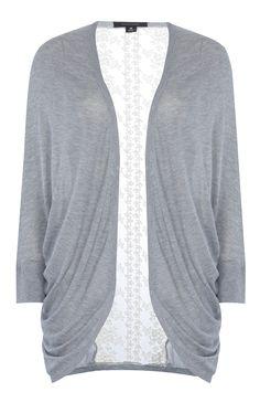 Primark - Grey Lace Back Cardigan