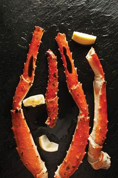 Sweet king crab legs gain a smoky edge when grilled. This recipe is adapted from one in For Cod and Country (Sterling Epicure, 2011) by Barton Seaver.