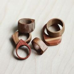 Learn how to make these simple wooden rings. They make a great, easy gift!: