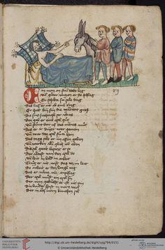 Cod. Pal. germ. 794: [Ulrich] Boner: Edelstein (Schwaben (Oberrhein?), um 1410/1420), Fol 72r