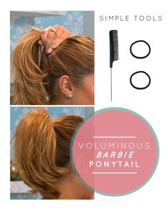 """Looking to get a full, voluminous, """"Barbie doll"""" ponytail? It's easier than you think!"""