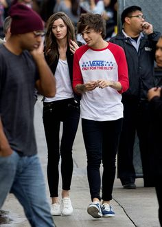 Eleanor and Louis arriving at Jimmy Kimmel Live