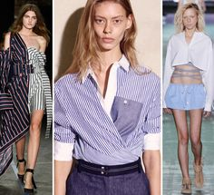 The Top 22 Trends, Ideas, and Styling Tricks We Loved from Spring 2017 NYFW - New Takes on Shirting from InStyle.com