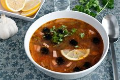 "Traditional Russian soup: ""solyanka"" as collection of different type of meat."