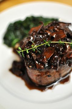 Filet Mignon with pan sauce..simple and classic and just plain good #meat #dinner #filetmignon