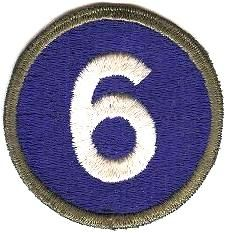 WorldMilitary - 6 Corps Patch. US Army