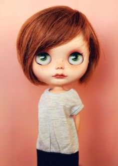 Image of Custom Blythe doll by Erica Fustero-Tibiloo