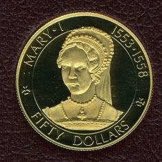 Cayman Islands 50 dollars Proof gold coins Queens of England QUEEN MARY