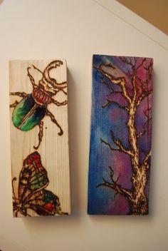 wood burning plus painting