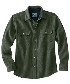 Men's Wool Alaskan Shirt - Woolrich $119