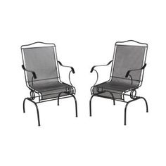 Hampton Bay Jackson Action Patio Chairs (2-Pack) 7891700-0205157 at The Home Depot - Mobile