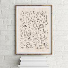 dodatki - plakaty, ilustracje, obrazy - grafika- roślinna grafika