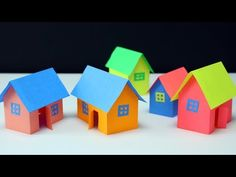 Paper house making-very easy way- best for school project work Paper Crafts Origami, Newspaper Crafts, Paper Crafts For Kids, Diy Arts And Crafts, Diy For Kids, Origami Sheets, Birdhouse Craft, Paper Christmas Decorations, Diy Papier