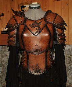 women leather armor by Lagueuse.deviantart.com on @DeviantArt
