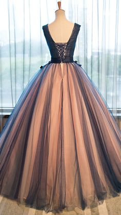 2018 evening gowns - Pretty tulle v-neck applique A-line long evening dresses ,ball gown dress Prom Dresses Uk, Blue Evening Dresses, Long Prom Gowns, Long Evening Gowns, Ball Gowns Prom, Ball Gown Dresses, Quinceanera Dresses, Pretty Dresses, Formal Dresses