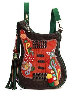 Handmade Embroidered Guitar Bag