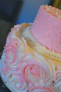 Rose cake.  Makes a beautiful wedding cake.