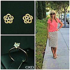 Para quem prefere acessórios minimalistas anel e brincos com zircônias!! CKD combina com seu estilo!! www.ckdsemijoias.com.br