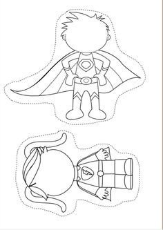 Super Girl Superhero Outline Template  Super Reader