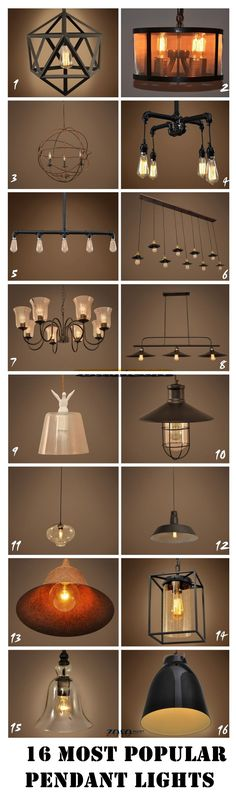 ZOSOMART Vintage metal industrial ceiling chandelier pendant light fixture lighting lamp. Which one is your favorite?