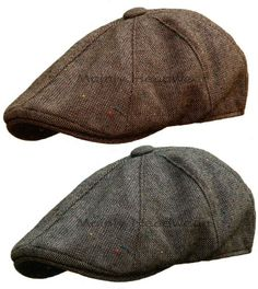 STETSON Tweed Mens GATSBY Cap Newsboy IVY hat Golf wool driving flat m l xl #Stetson #NewsboyIvy