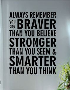 Always Remember Quote Decal Sticker Wall Vinyl Art by BoopDecals, $36.00
