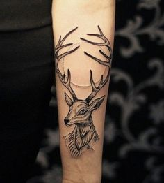 Cool Deer Tattoo - 55  Awesome Forearm Tattoos  <3 <3