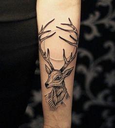 Cool Deer Tattoo - 55+ Awesome Forearm Tattoos  <3 !